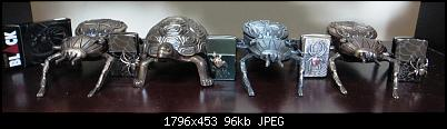 Click image for larger version.  Name:ZIPPO SPIDER ON EDGE VOL.1+2+3 AND TURTLE.jpg Views:2 Size:95,9 KB ID:11366